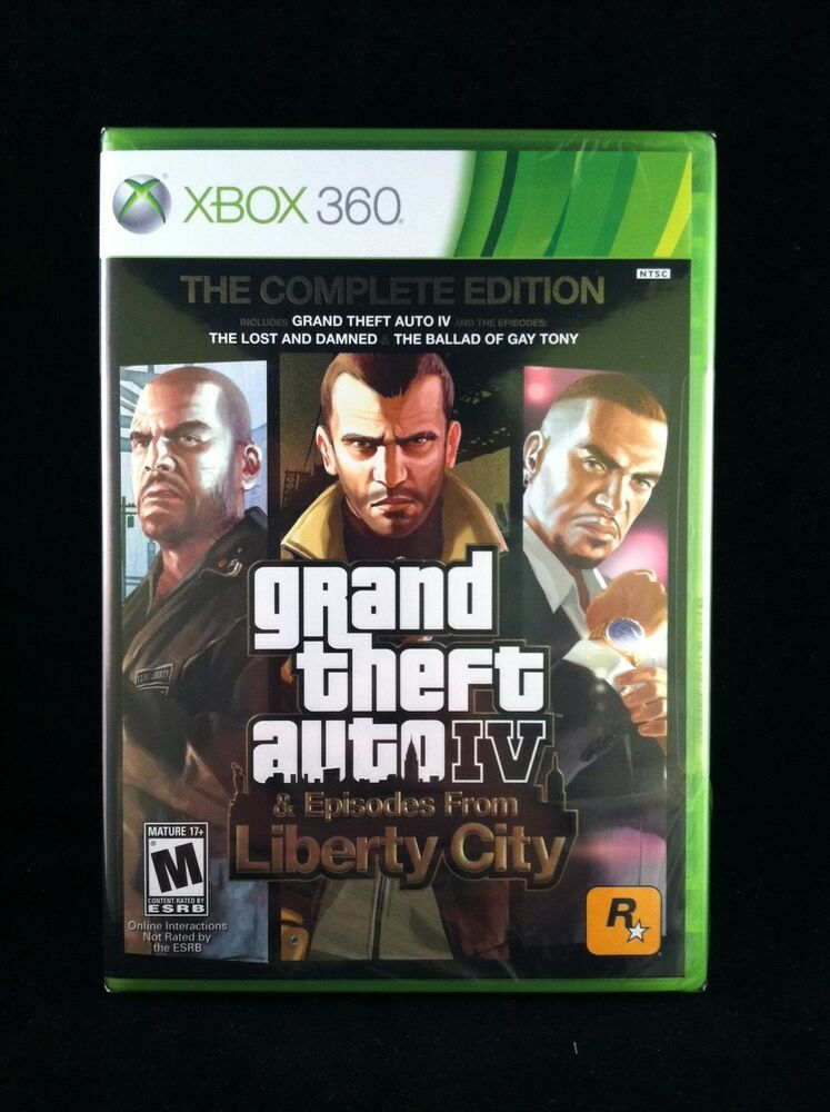 grand theft auto iv 4 gta 4 the complete edition xbox. Black Bedroom Furniture Sets. Home Design Ideas
