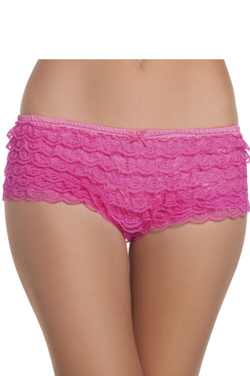 Bikini Bikini panties offer modest coverage in the front and back while the sides rest high on the hips or waist. They give you more coverage than thongs but less coverage than briefs, and .