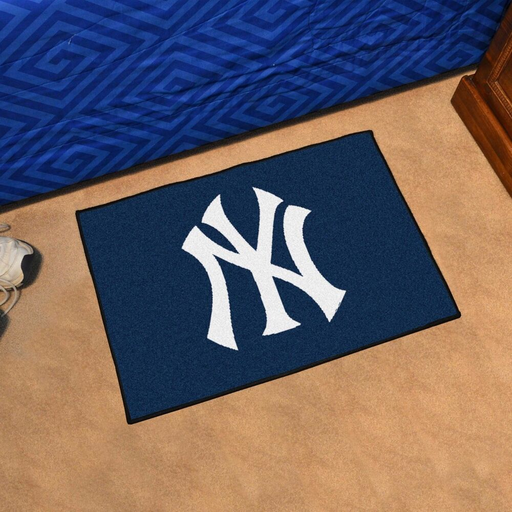 "New York Yankees Rug Bath Mat Welcome Door Mat 19""x30"" 