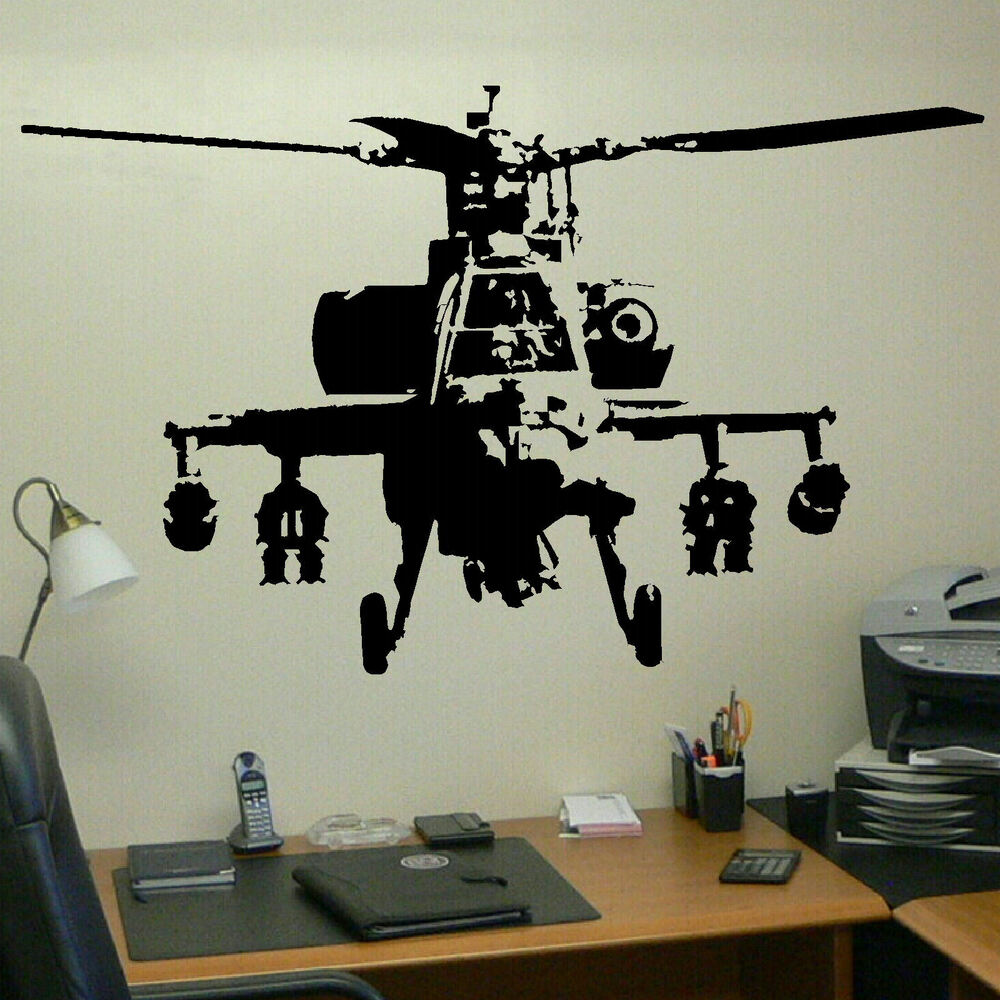 Xtra Large Banksy Helicopter Wall Art Bedroom Mural Giant