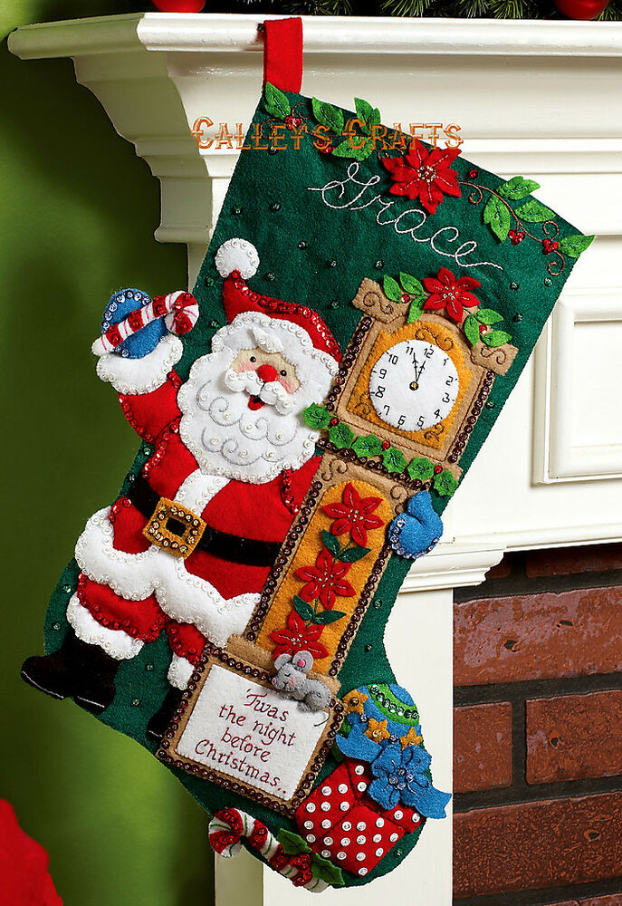 "Bucilla Twas The Night ~ 18"" Felt Christmas Stocking Kit ..."
