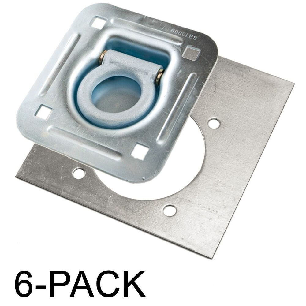 D ring recessed lb tiedown with backing plate tie