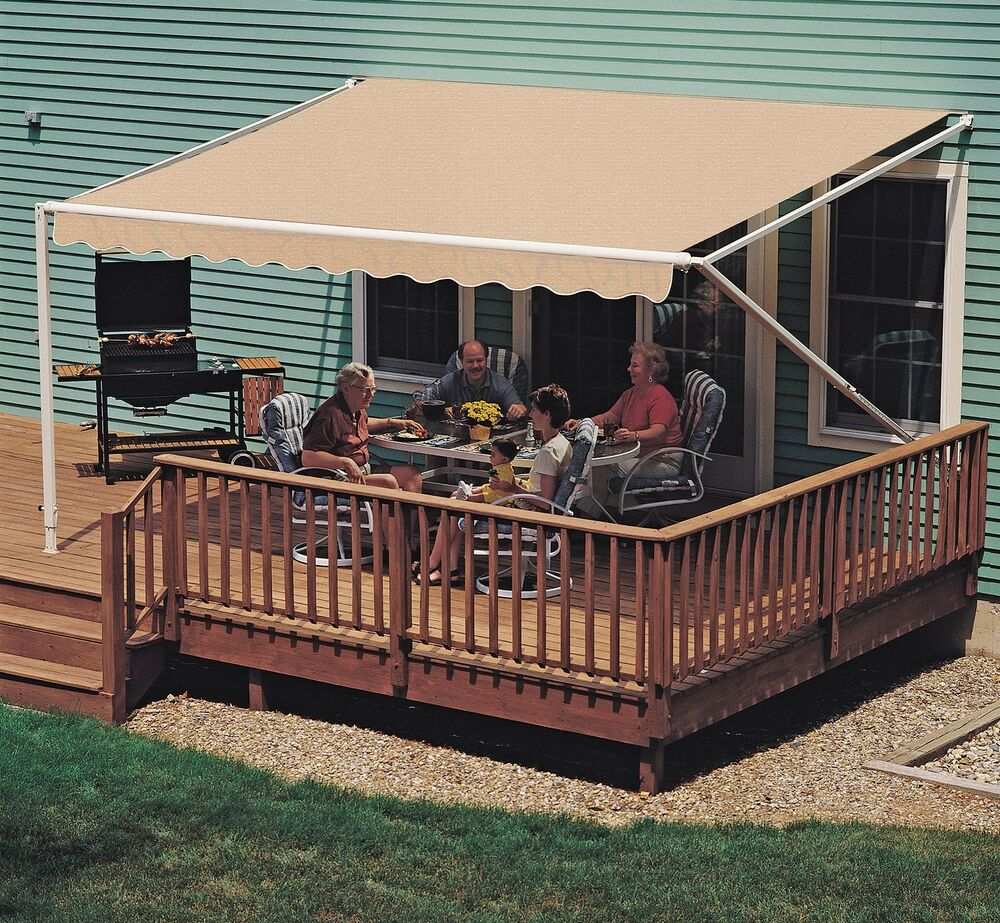 18 ft sunsetter 900xt retractable awning outdoor deck for Patio decks for sale