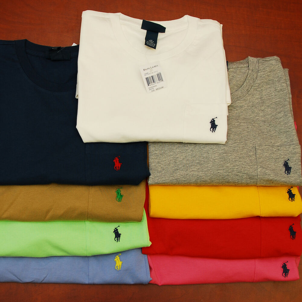 Polo ralph lauren mens pocket t shirt tee t shirts men for Polo t shirts with pocket online