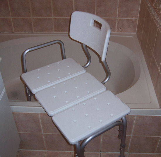 Bath Transfer Bench Wheelchair To Bathtub Shower Transfer Seat With Back Support Ebay