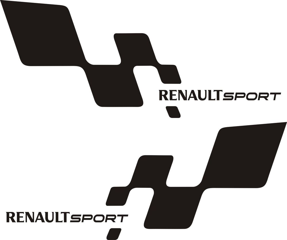 2 renault sport chequered flag car vinyl sticker decal 22 colours ebay. Black Bedroom Furniture Sets. Home Design Ideas