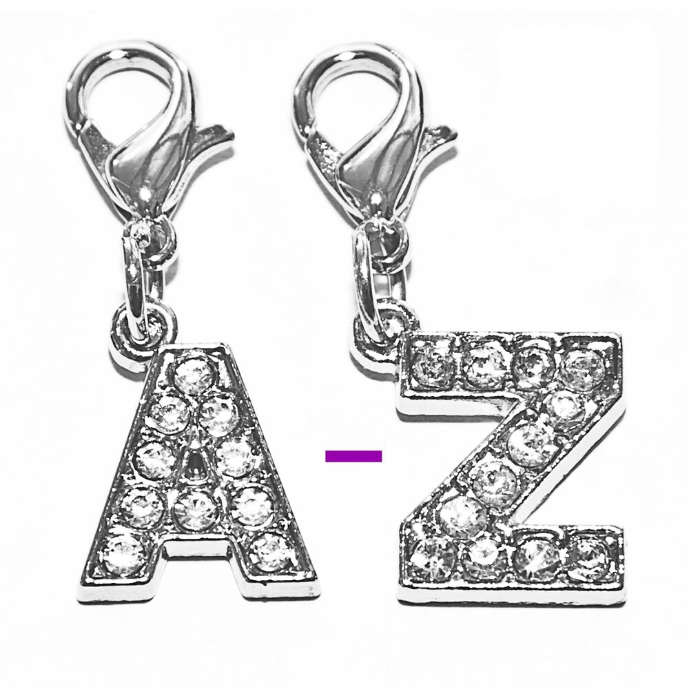 diamante bling sparkly crystal alphabet letter cat dog