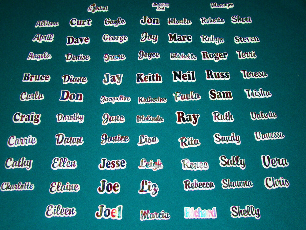 Personalized name magnets refrigerator magnets rainbow magnets names a thru i ebay - What you can do with magnets ...