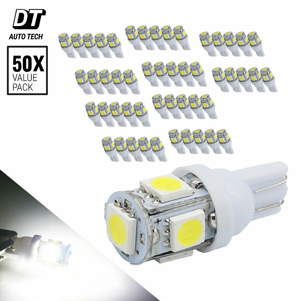 2X 6000K Xenon White T10 921 Interior/License Plate SMD