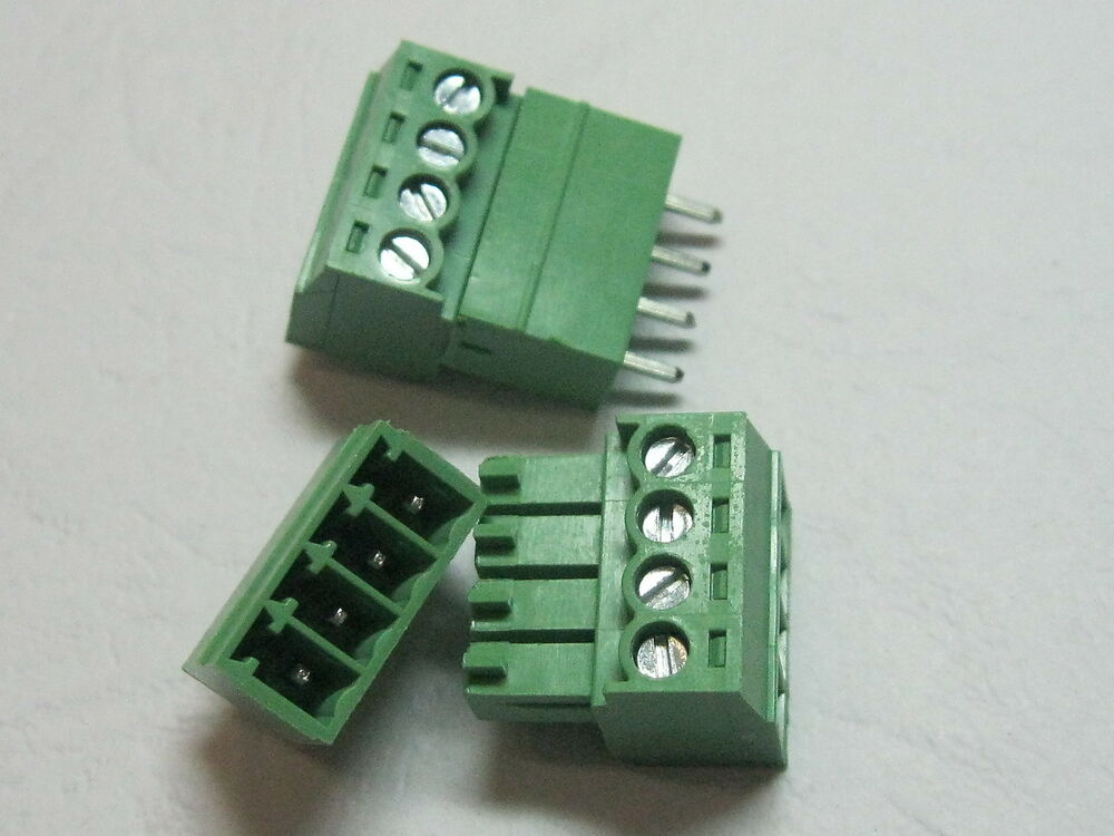 Pcs pin way pitch mm screw terminal block connector