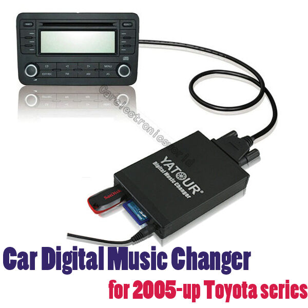 Apps2car Usb Sd Aux Car Digital Music Changer For Toyota: Car Digital CD Changer SD USB AUX Adapter MP3 Music Toyota