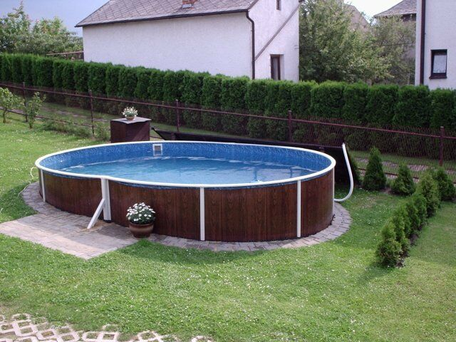 Above Ground Swimming Pool Kit 18x12ft Oval Ebay