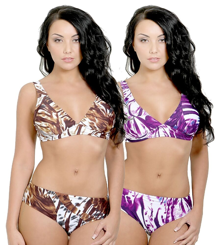 ladies bikini set sizes 14 24 two colour choices new with tags style30700 ebay. Black Bedroom Furniture Sets. Home Design Ideas