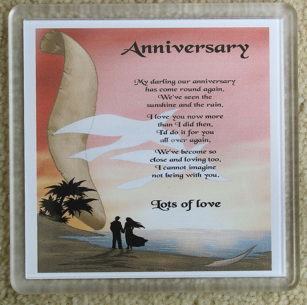 6th 7th 8th 9th 10th 11th 12th 13th 14th Our Wedding Anniversary Gift Coaster
