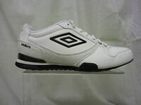 Mens Umbro Lace Up Trainer, Synthetic, White/Black/Gold, Geremio-A