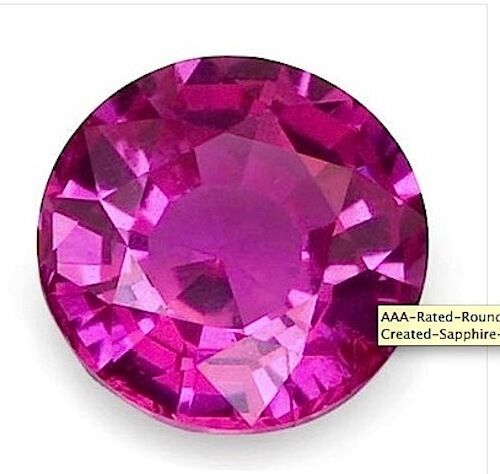 Aaa Rated Round Bright Pink Lab Created Pink Sapphire 1mm 16mm Ebay