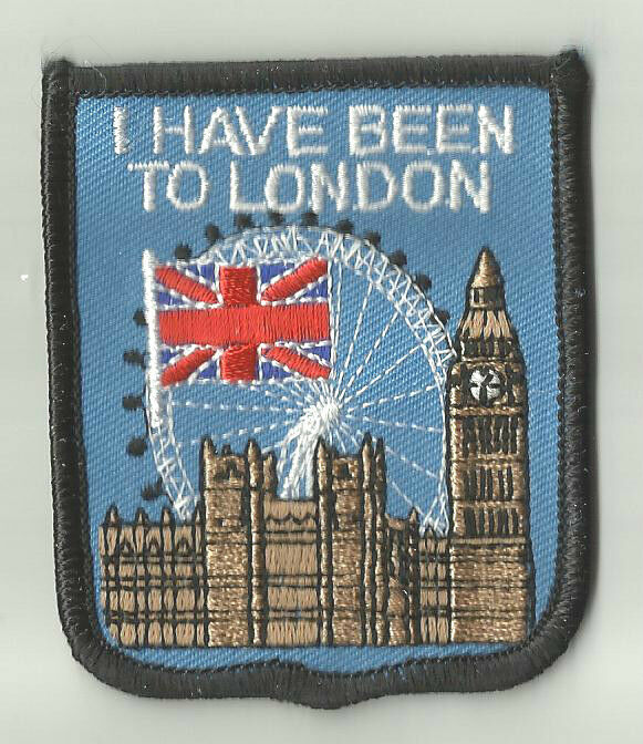 I have been to london world embroidered patch badge unique