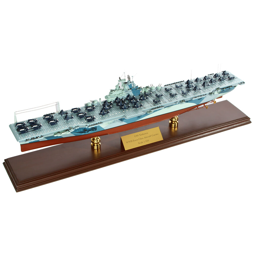 Navy USS Yorktown CV-10 Desk Display 1/350 WW2 Aircraft ...