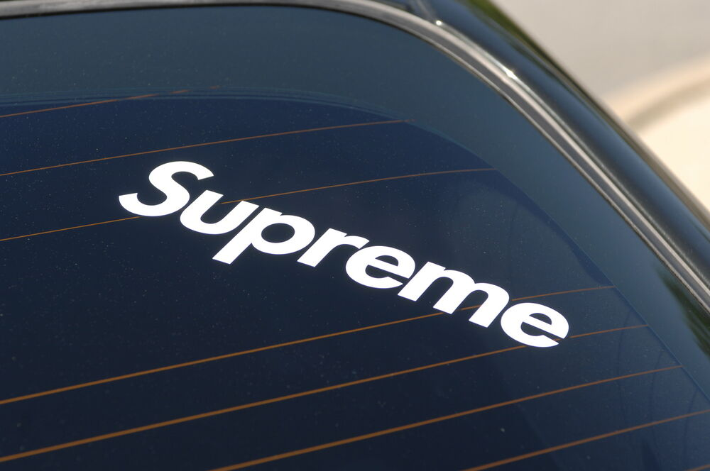 Supreme V1 Sticker Decal Vinyl Jdm Euro Drift Lowered