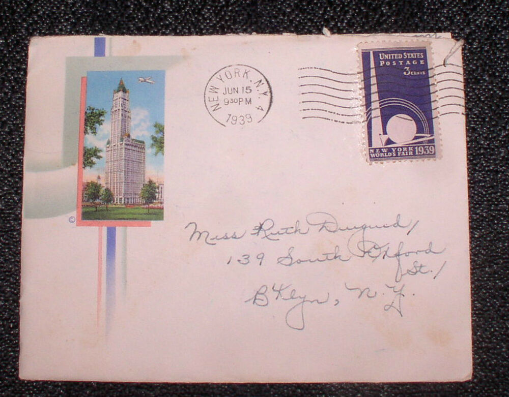 1939 1940 new york city worlds fair stamp letterhead nyc for New york state architect stamp