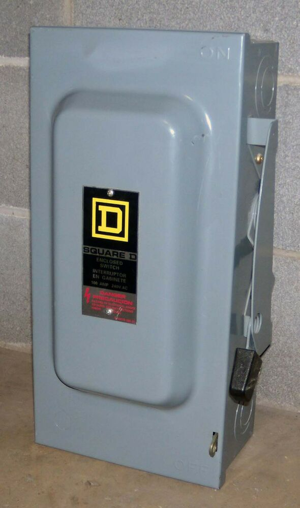 O Square D 100 Amp Safety Switch D323n Ebay