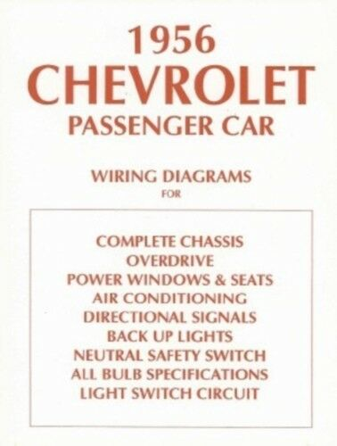 s l1000 chevrolet 1956 chevy car wiring diagram 56 ebay 1956 Bel Air Wiring Diagram at crackthecode.co
