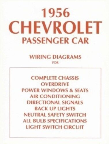 s l1000 chevrolet 1956 chevy car wiring diagram 56 ebay 1956 Bel Air Wiring Diagram at soozxer.org