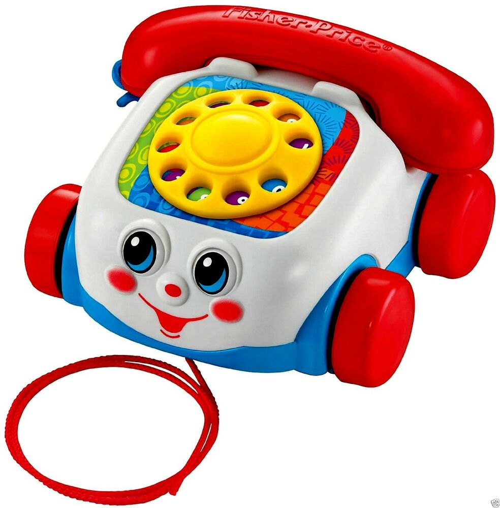 fisher price baby toddler chatter telephone push pull toy eyes move wheels new ebay. Black Bedroom Furniture Sets. Home Design Ideas