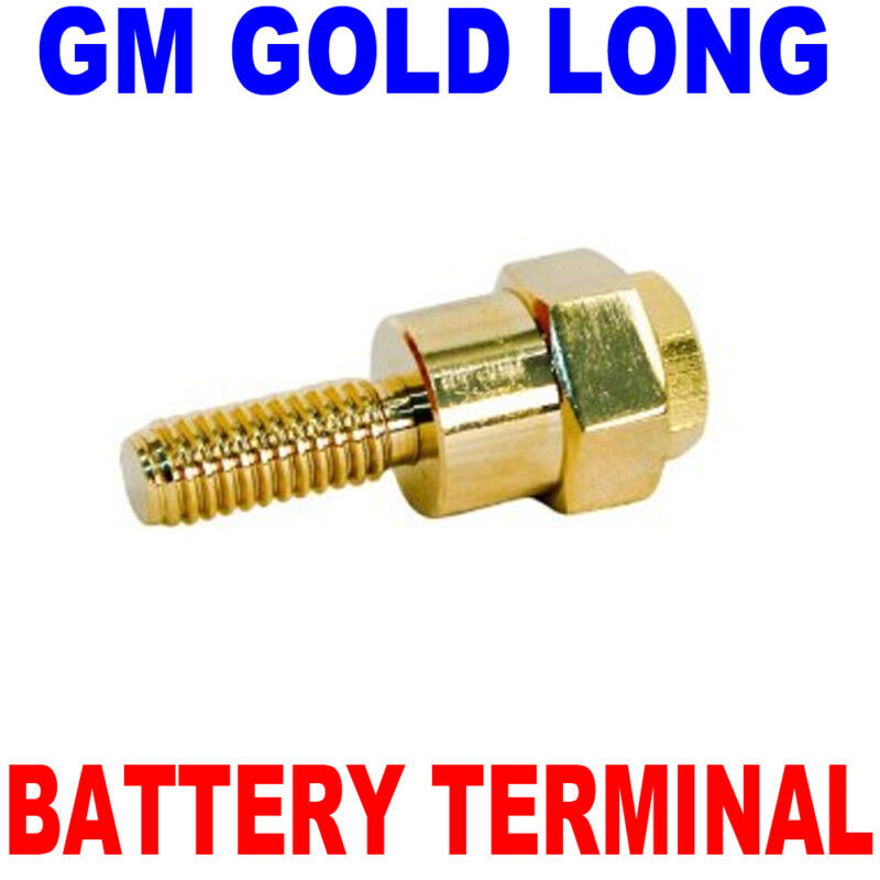 gold gm side post battery terminal w amp stud long new. Black Bedroom Furniture Sets. Home Design Ideas