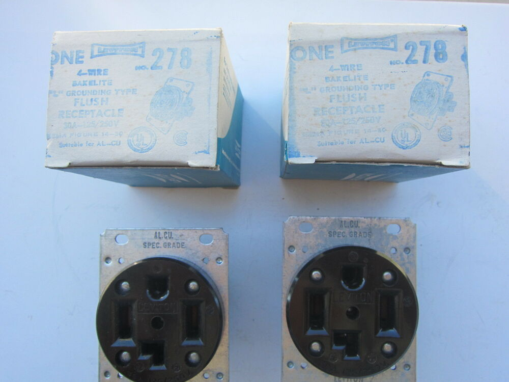 Leviton 278 30a 125  250v Straight Blade Receptacle 14