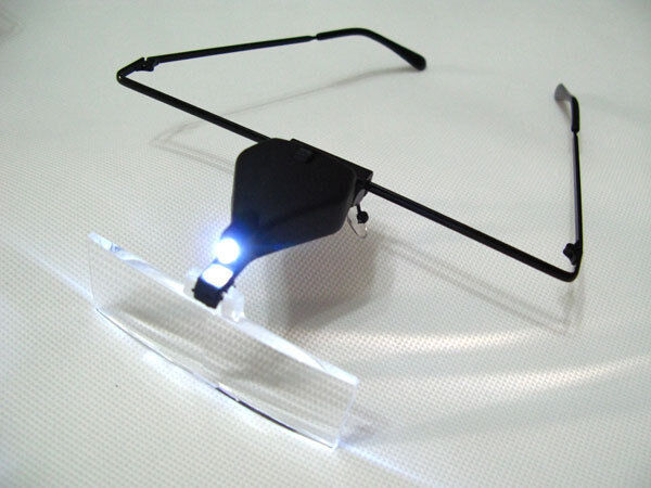 supporting glasses magnifier with led lamp magnifying glass pocket. Black Bedroom Furniture Sets. Home Design Ideas