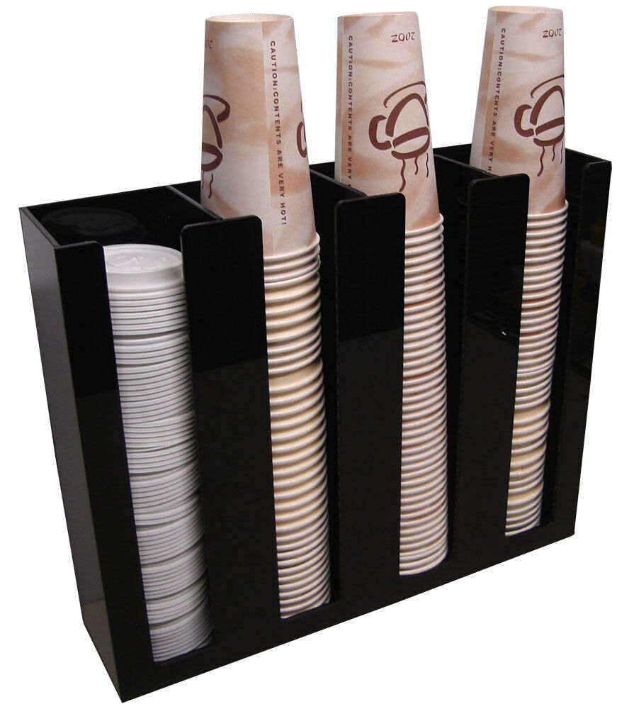 office coffee cups. interesting office coffee cup lid holder dispenser office organizer caddy coffee counter  display 4s  ebay throughout office cups