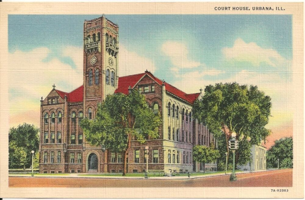 Court house urbana illinois il postcard ebay for Housse illinois