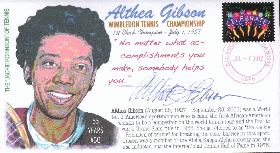 Coverscape Computer Designed Tennis Legend Althea Gibson 55th
