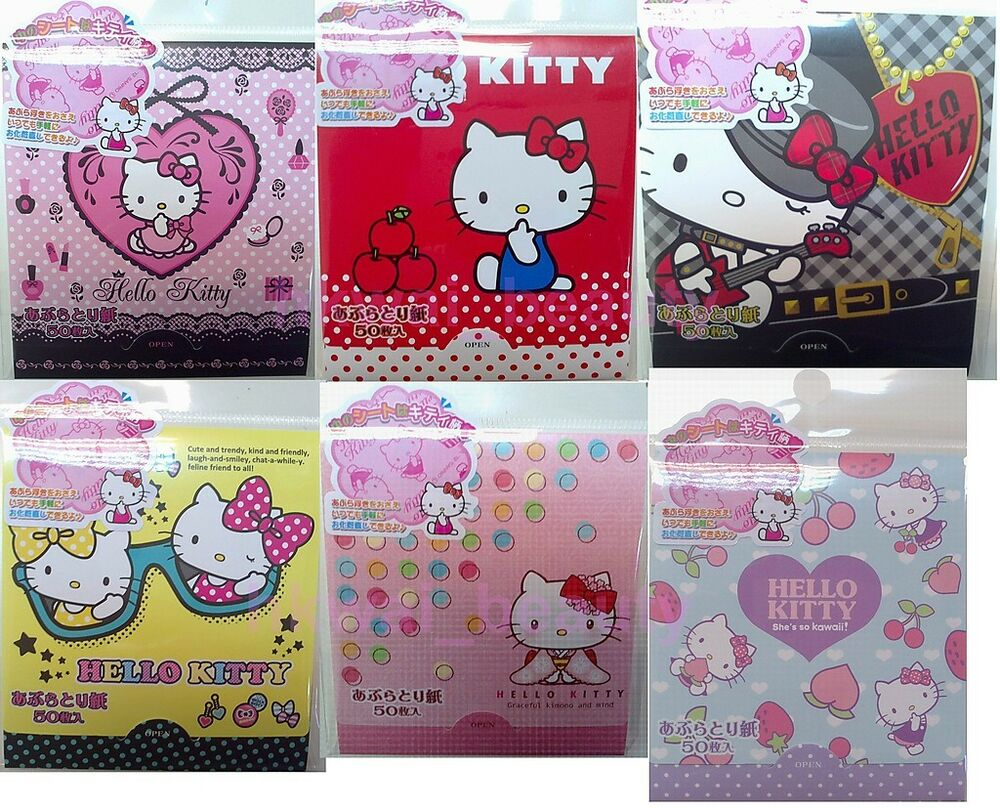 Sanrio Japan Hello Kitty Face Oil Blotting Tissue Paper 50