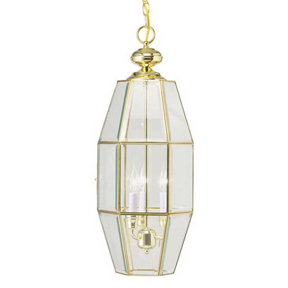 kichler polished brass 3 light chandelier pendant ebay