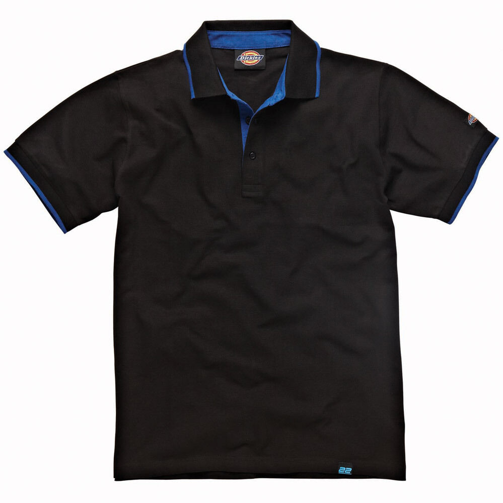 mens dickies 22 short sleeve polo shirt size small xxxl anvil black dt2000 ebay. Black Bedroom Furniture Sets. Home Design Ideas