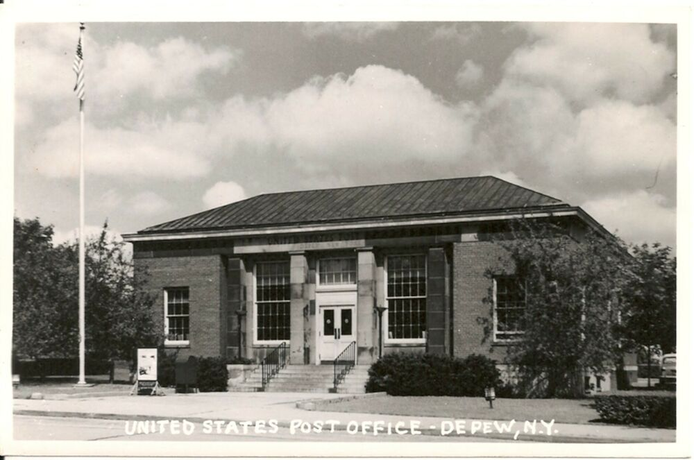 United States Post Office Depew New York NY RP Postcard