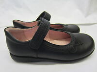 Girls Startrite School Shoes In Black Leather 'Stone' G Width Fitting