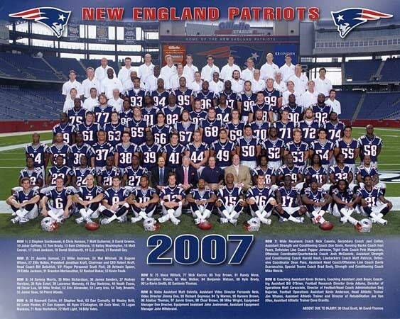2007 NEW ENGLAND PATRIOTS SUPER BOWL 42 NFL FOOTBALL 8X10 ...