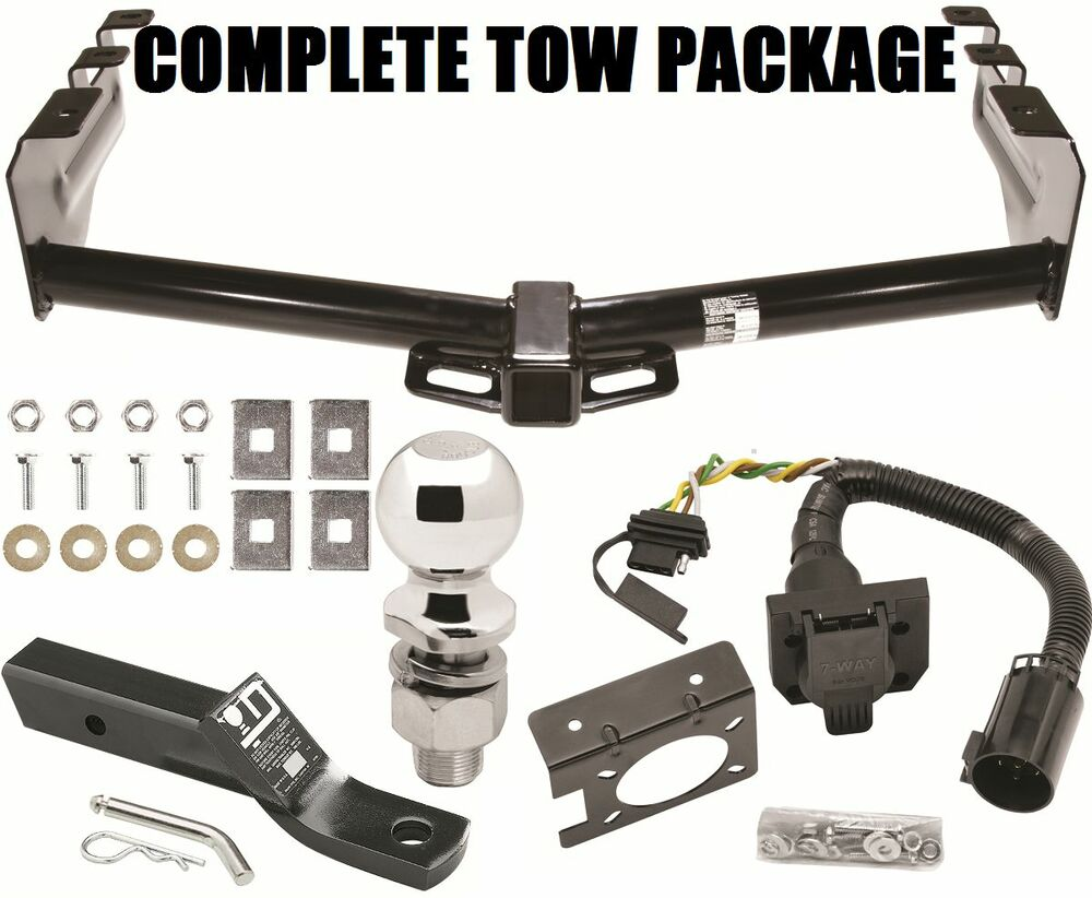 Trailer Hitch Wiring Harness Bracket : Complete trailer hitch package w way wiring