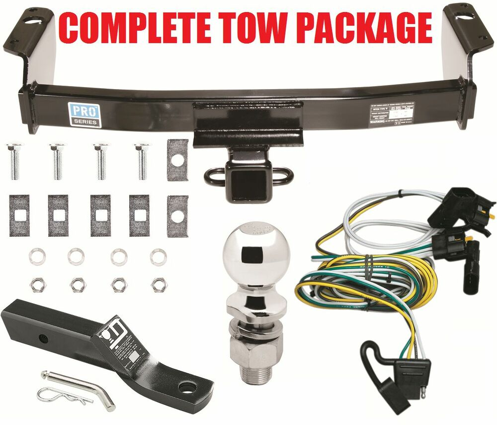Complete Trailer Hitch Receiver Tow Package