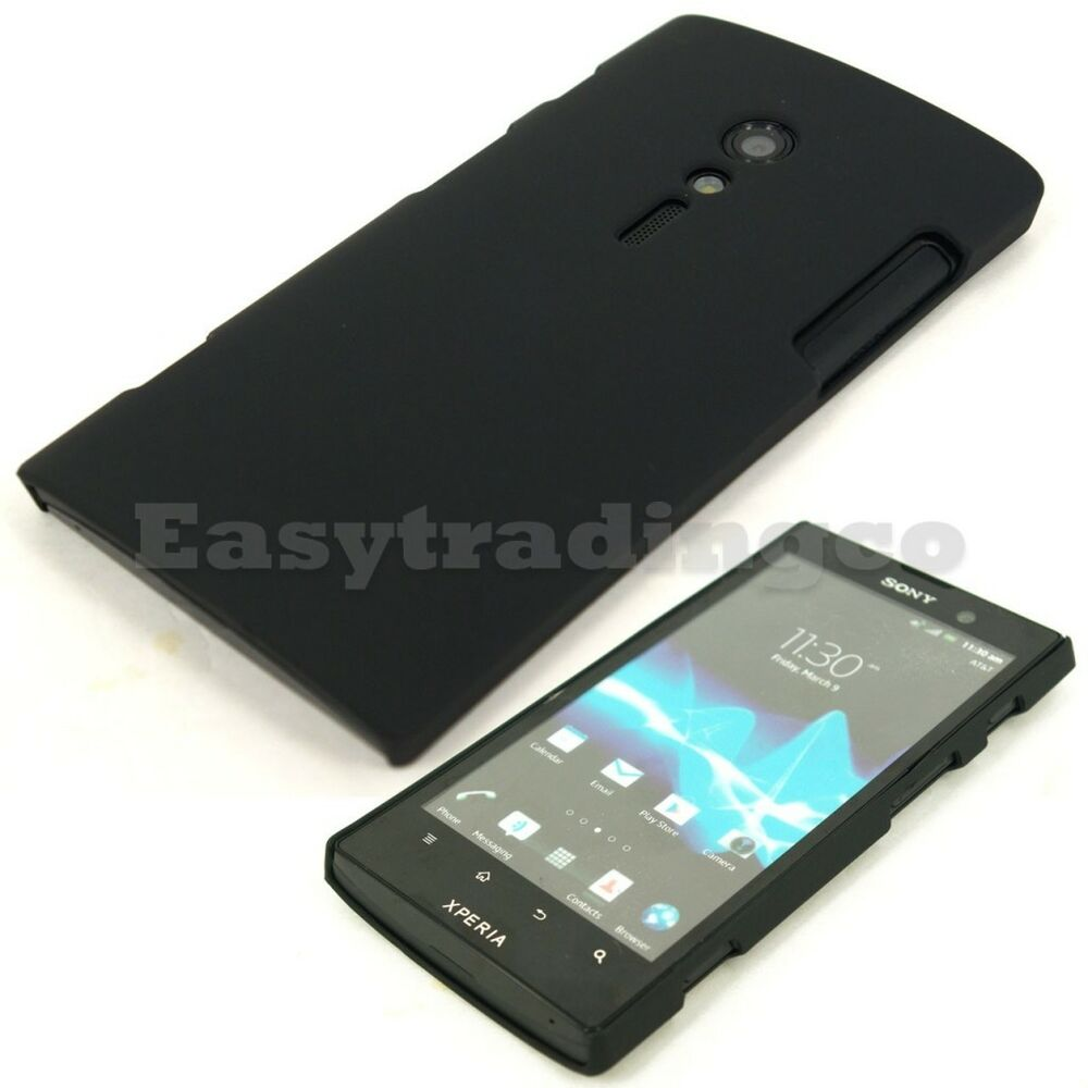 Xperia Ion Case Black Hard Back Cover ...