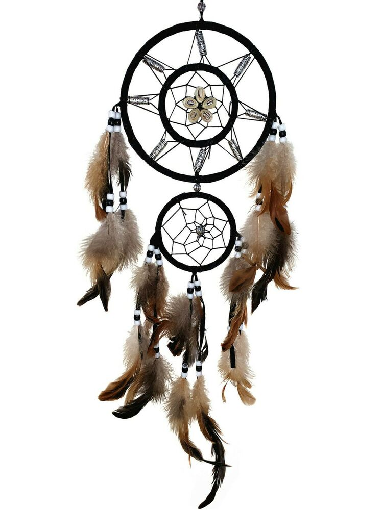 handmade dream catcher with feather wall hanging decoration ornament 22 - Native American Decor