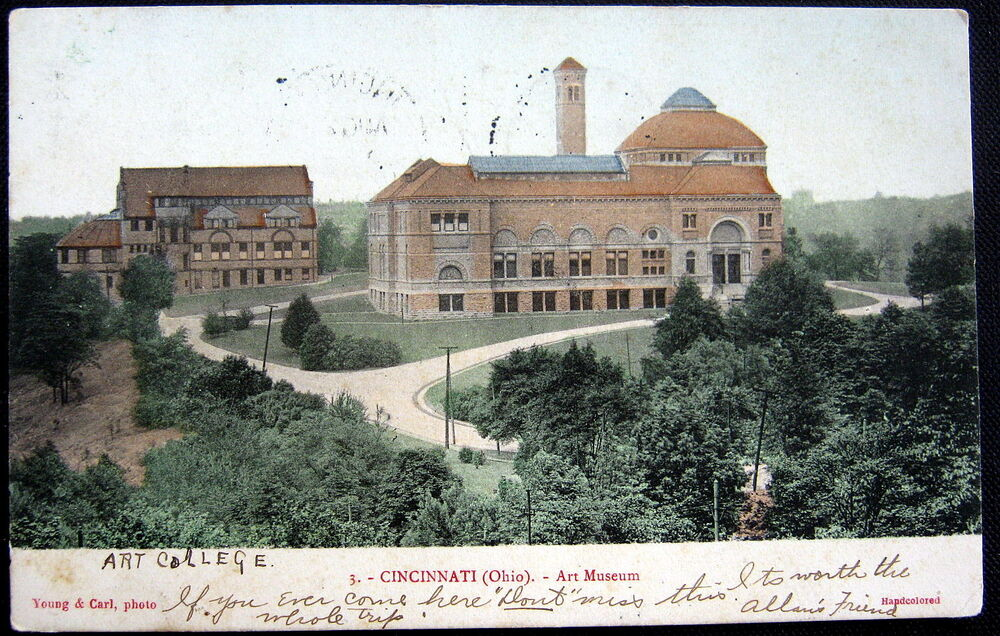 Cincinnati ohio 1906 art college art museum no 3 ebay Museums in cincinnati ohio