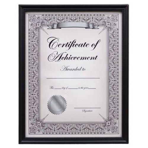 Set Of 2 8 5x11 Wood Frame Black Diploma Document