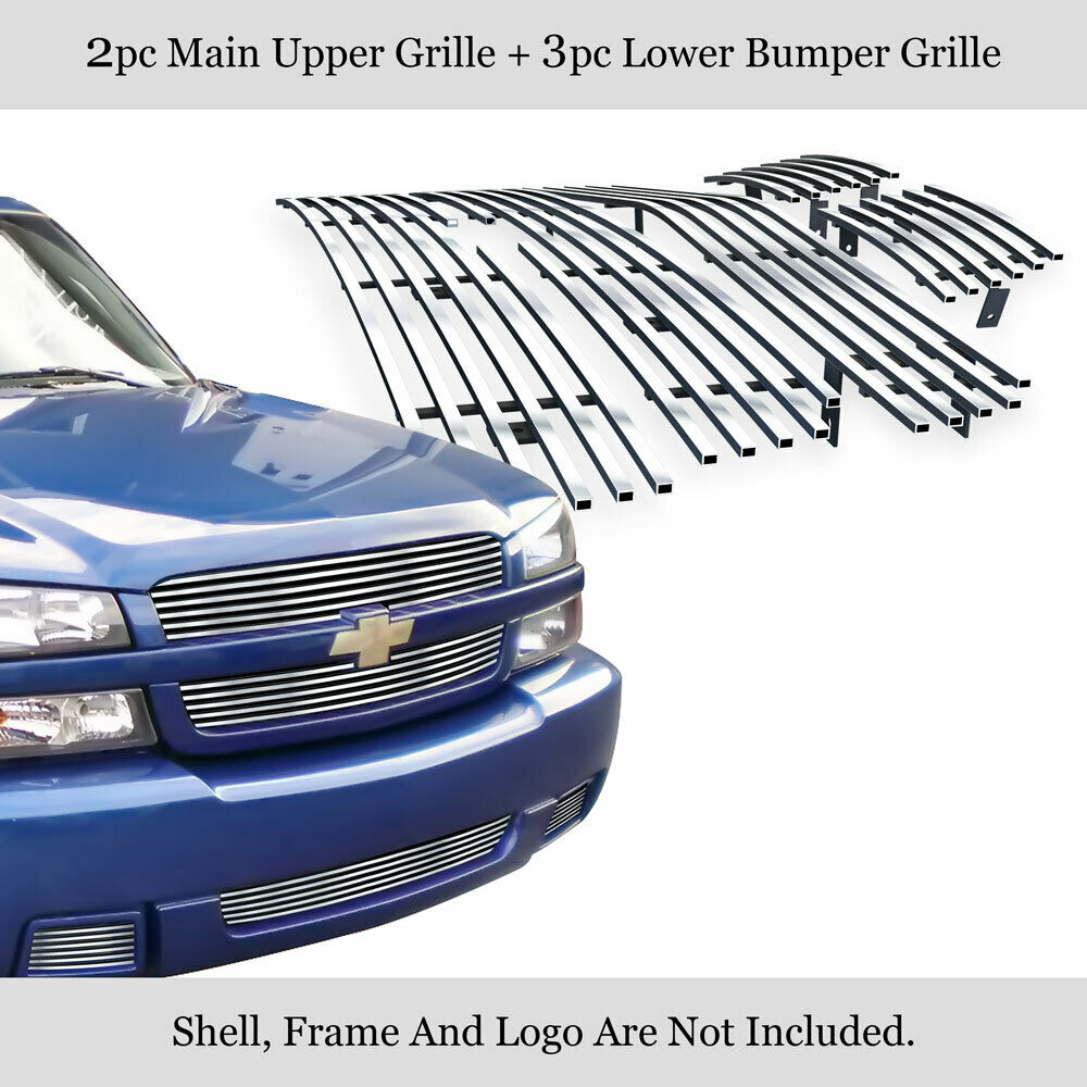 fits 03 05 chevy silverado 1500 ss billet grille combo ebay. Black Bedroom Furniture Sets. Home Design Ideas