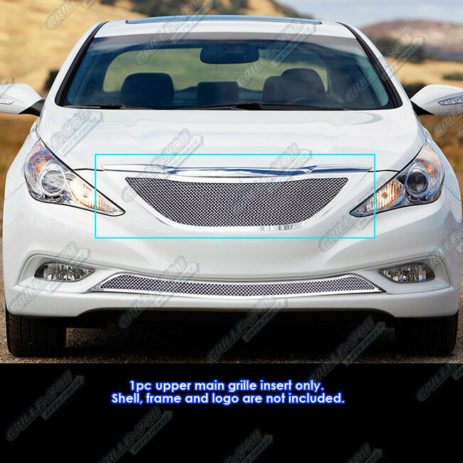 Fits 2011 2012 Hyundai Sonata Stainless Steel Mesh Grille