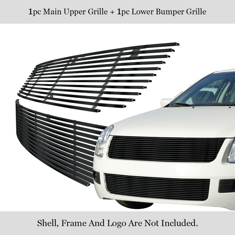 Fits 06-09 Ford Fusion Black Billet Grille Grill Combo ...