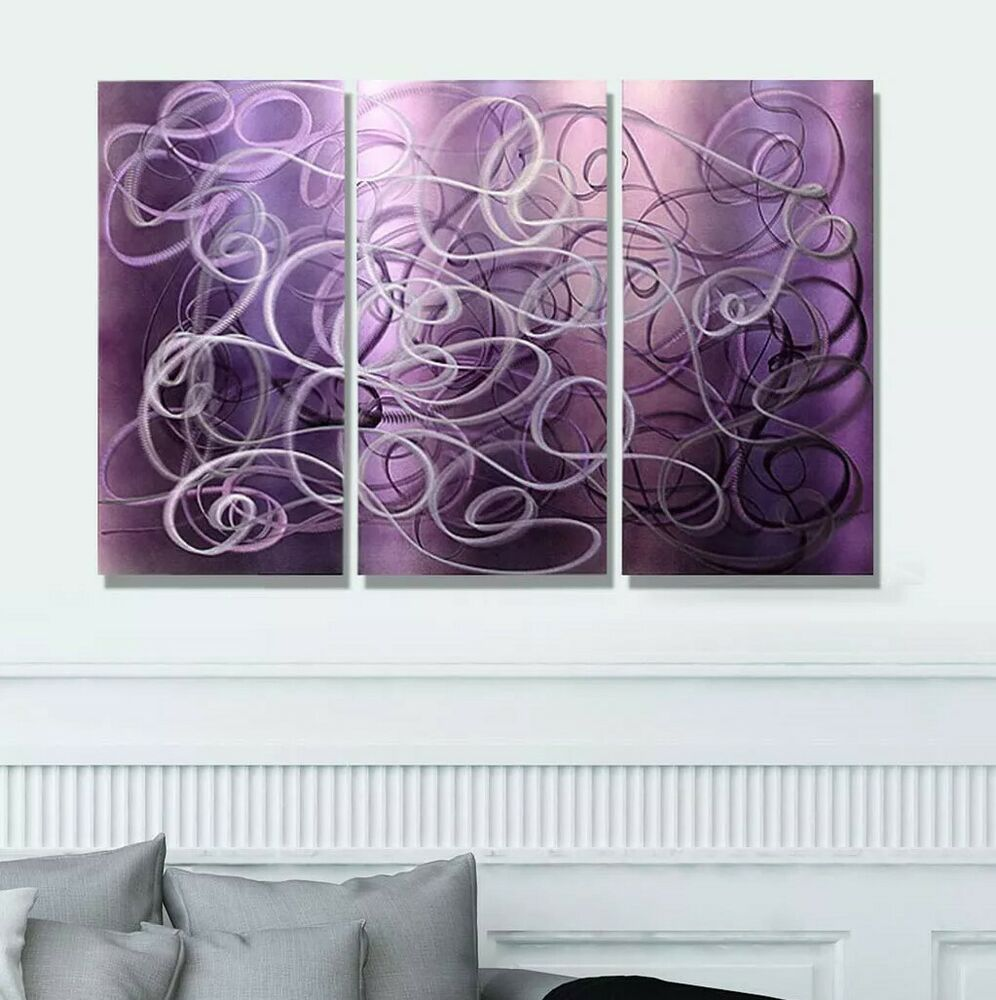 Modern abstract painting metal wall art sculpture home decor confused passion ebay - Contemporary wall art decor ...